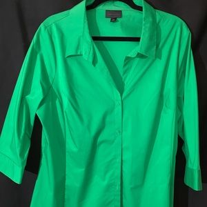 New Worthington 1X woman's Green blouse